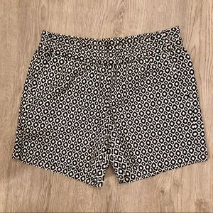 J. Crew Black and White Pull On Shorts
